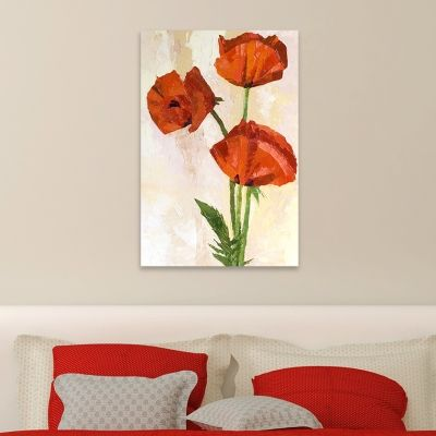 0010 Wall art decoration Art red poppies