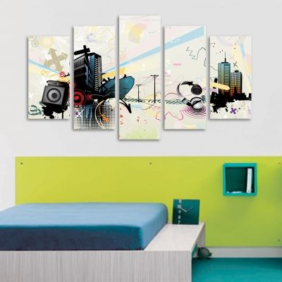 Modern abstract decoration set