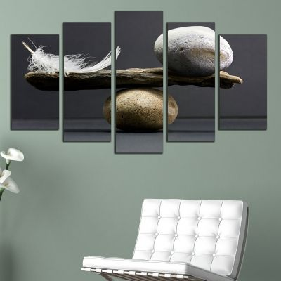 0163 Wall art decoration (set of 5 pieces) Balance