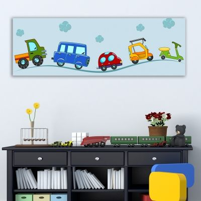 0170  Wall art decoration for kids Favorite vehicles