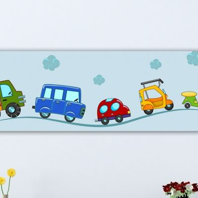 Wall art decoration vehicles for kids
