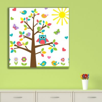 0171  Wall art decoration for kids Funny tree