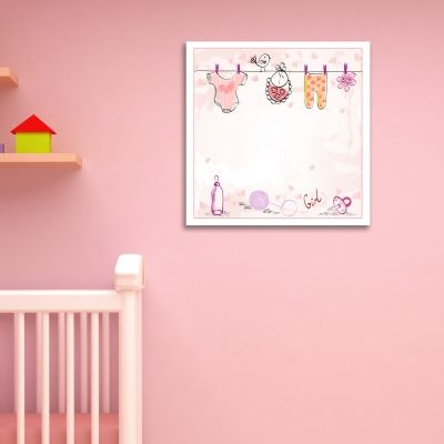 0174_1  Wall art decoration Baby girl
