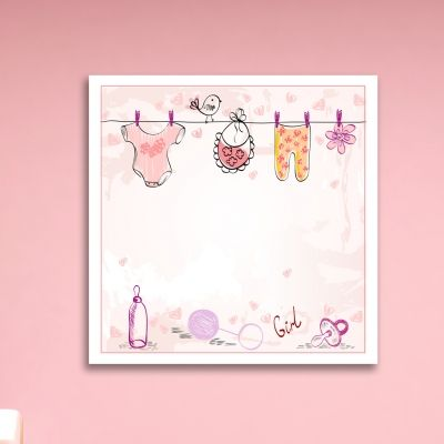 Wall art decoration for baby girl