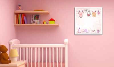 Baby girl wall art decoration