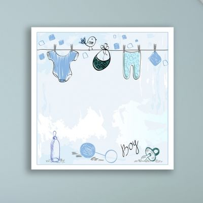 Wall art decoration for baby boy