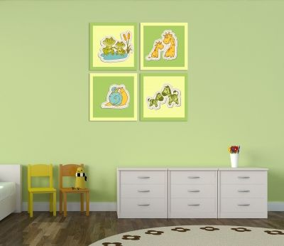 Kids wall art decoration  with animals