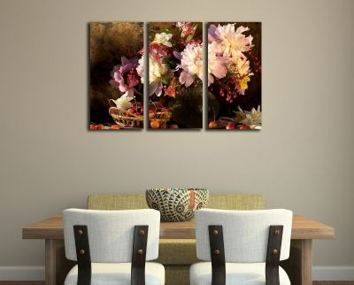 Canvas wall art set for kitchen and dinning room