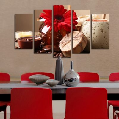 0177  Wall art decoration (set of 5 pieces) Aromatic composition