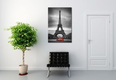 Paris black and white canvas art decoration