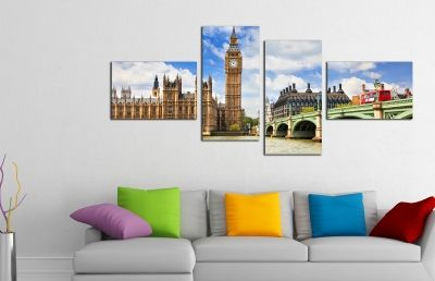 Canvas wall art decoration London