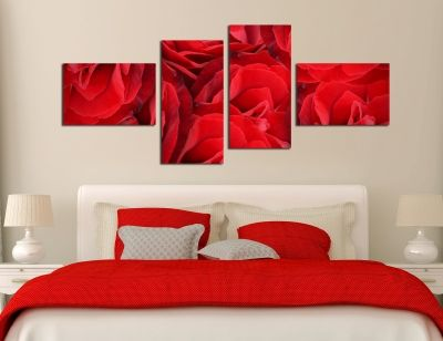 Canvas wall art decoration in red