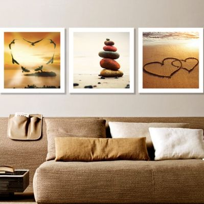 0209 Wall art decoration (set of 3 pieces) Love is all around