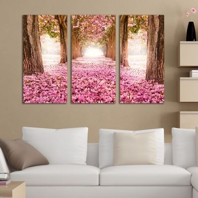 0215 Wall art decoration (set of 3 pieces) Fabulous park