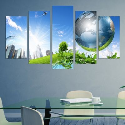 0220 Wall art decoration (set of 5 pieces) Eco Planet