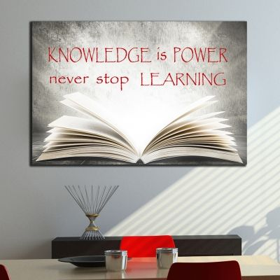 0227 Wall art decoration  Knowledge is Power