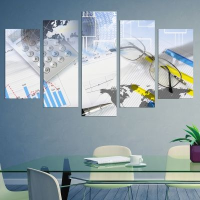 0232 Wall art decoration (set of 5 pieces) Finances