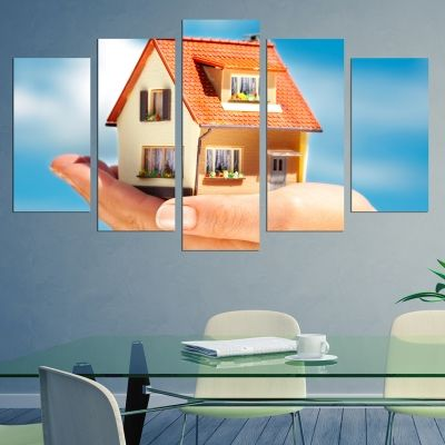 0234 Wall art decoration (set of 5 pieces) Real estates