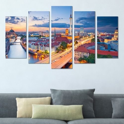 Canvas wall art set city landscape Berlin