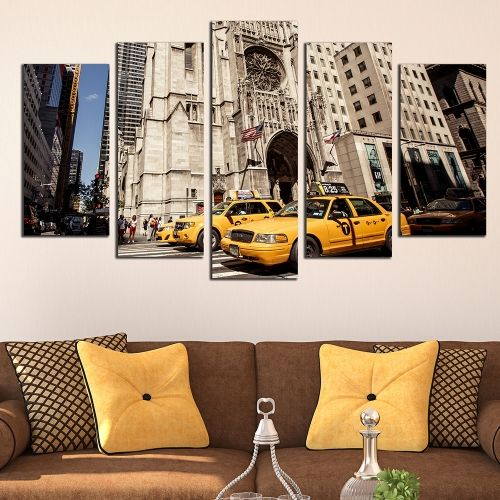 Canvas wall art New York yellow cabs