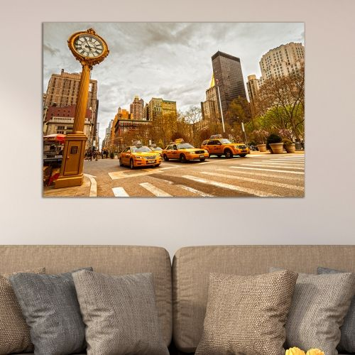 Wall art decoration cityscape New York 5th avenue