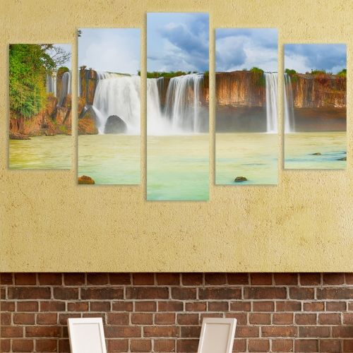 0095 Wall art decoration (set of 5 pieces) Waterfalls