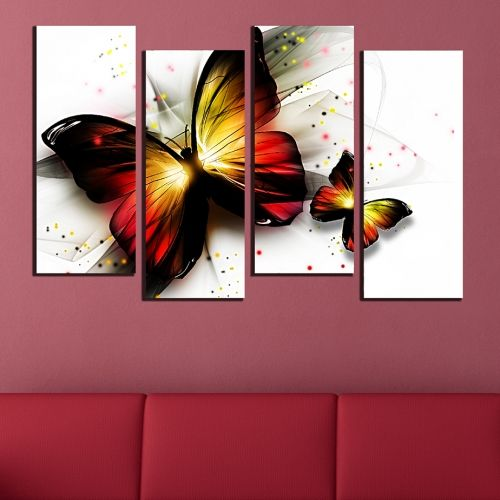 canvas wall art for living room Butterflies abstract