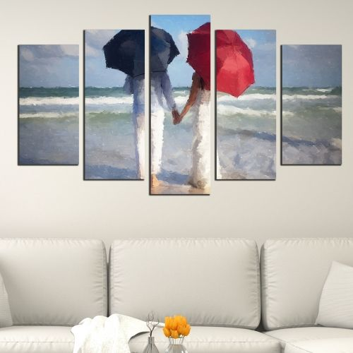 Love canvas wall art set with man and woman in love