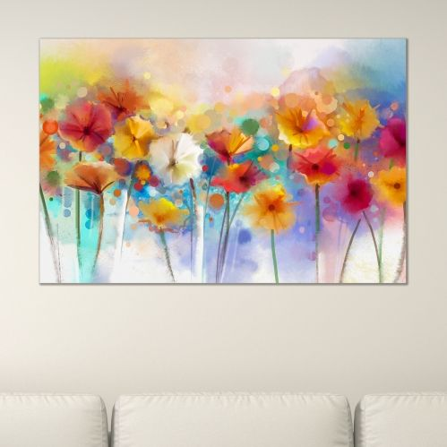 Wall art decoration abstract flowers