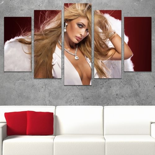 Wall art decoration set Woman with angel wings