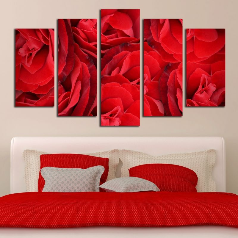 Online Canvas And Pvc Decorations Wall Decoration Red