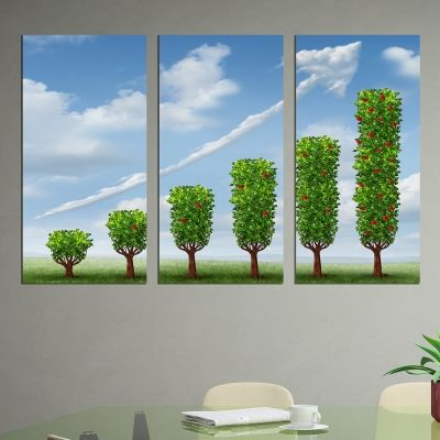 0237 Wall art decoration (set of 3 pieces) Stable growth