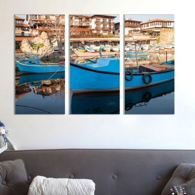 0254 Wall art decoration (set of 3 pieces) Nesebar, Bulgaria