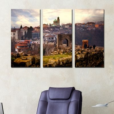 0255 Wall art decoration (set of 3 pieces) Veliko Turnovo, Bulgaria