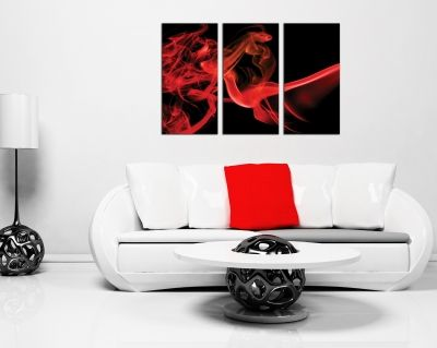 Canvas Wall art abstract red smoke