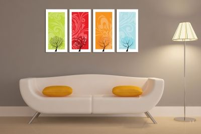 canvas wall art with seasons for living room