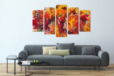 abstract floral canvas wall art set