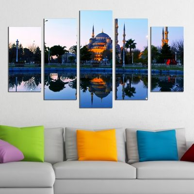 0301 Wall art decoration (set of 5 pieces) Istanbul