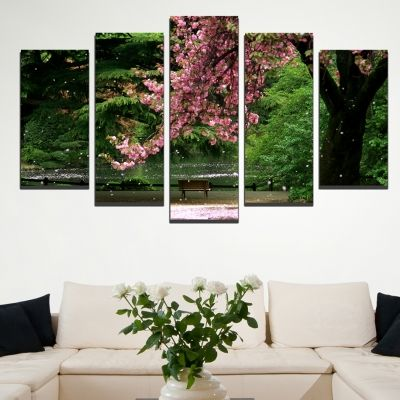 0313 Wall art decoration (set of 5 pieces) Magic calmness