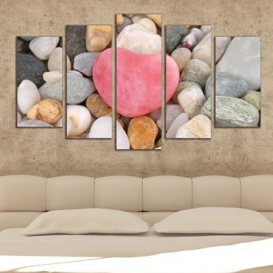 0314 Wall art decoration (set of 5 pieces) Stones