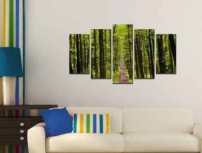 Canvas wall art with forest path
