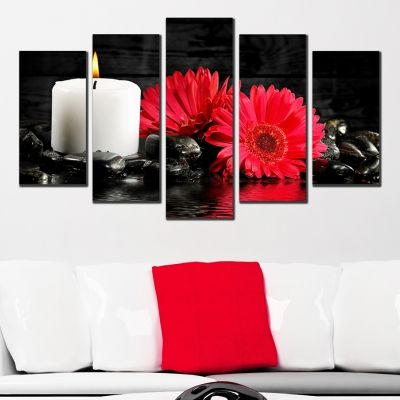 0329 Wall art decoration (set of 5 pieces) Zen composition
