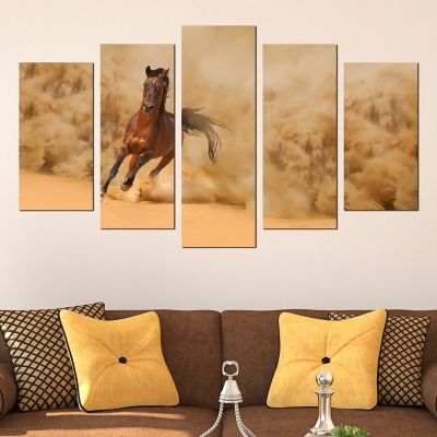 0332 Wall art decoration (set of 5 pieces) Horse
