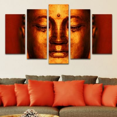 0342 Wall art decoration (set of 5 pieces) Buddha
