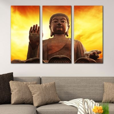 0344 Wall art decoration (set of 3 pieces) Buddha