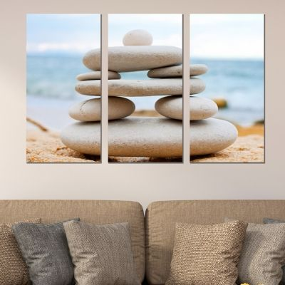 0042 Wall art decoration (set of 3 pieces) Stones