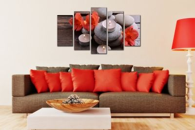 Spa composition canvas wall art