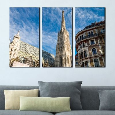 0359 Wall art decoration (set of 3 pieces)  Vienna