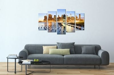 Wall art set 5 pieces New York