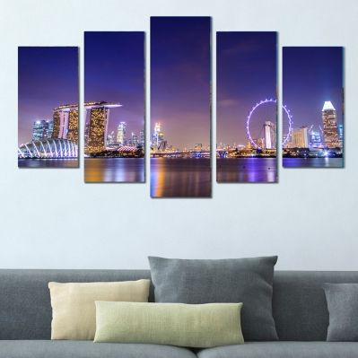 0384 Wall art decoration (set of 5 pieces) Singapore